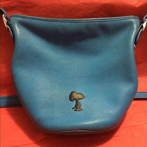 Coach Snoopy silhouette crossbody bag